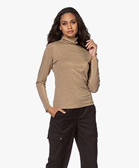 no man's land Lurex Turtleneck Long Sleeve - Marple Syrup
