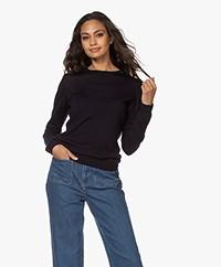 by-bar Lisa Fine Knitted Merino Pullover - Dark Navy