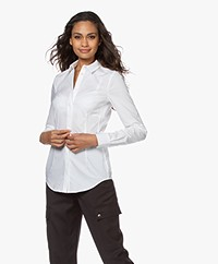 Drykorn Livy Stretch Poplin Blouse - White