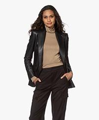 Drykorn Atlin Faux Leather Blazer - Black