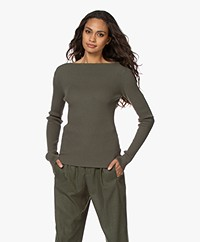 Woman by Earn Cory Rib Boothals Trui - Army