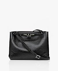 Rag & Bone Passenger Patent Leather Crossbody Bag - Black