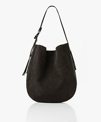 Rag & Bone Riser Carryall Suede Leather Shopper - Black