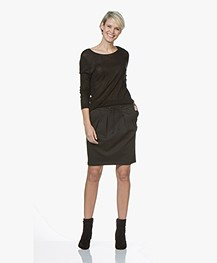 BOSS Banotty Interlock Jersey Skirt - Dark Grey