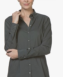 Closed Annie Katoen-stretch Blouse - Pine Tree
