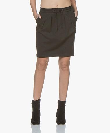 BOSS Banotty Interlock Jersey Skirt - Dark Grey