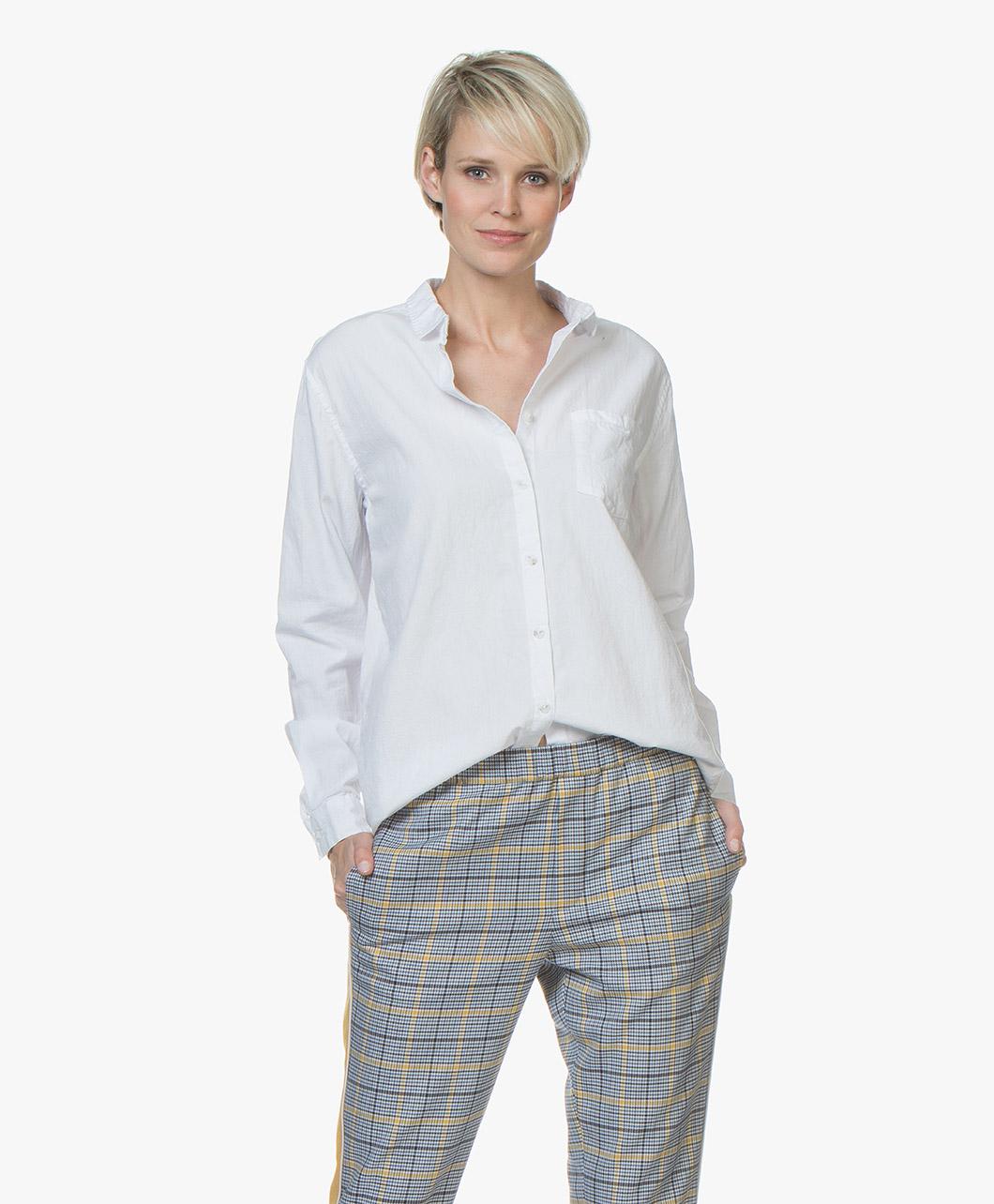 Afbeelding van American Vintage Blouse Wit Pizabay Oversized Katoenen