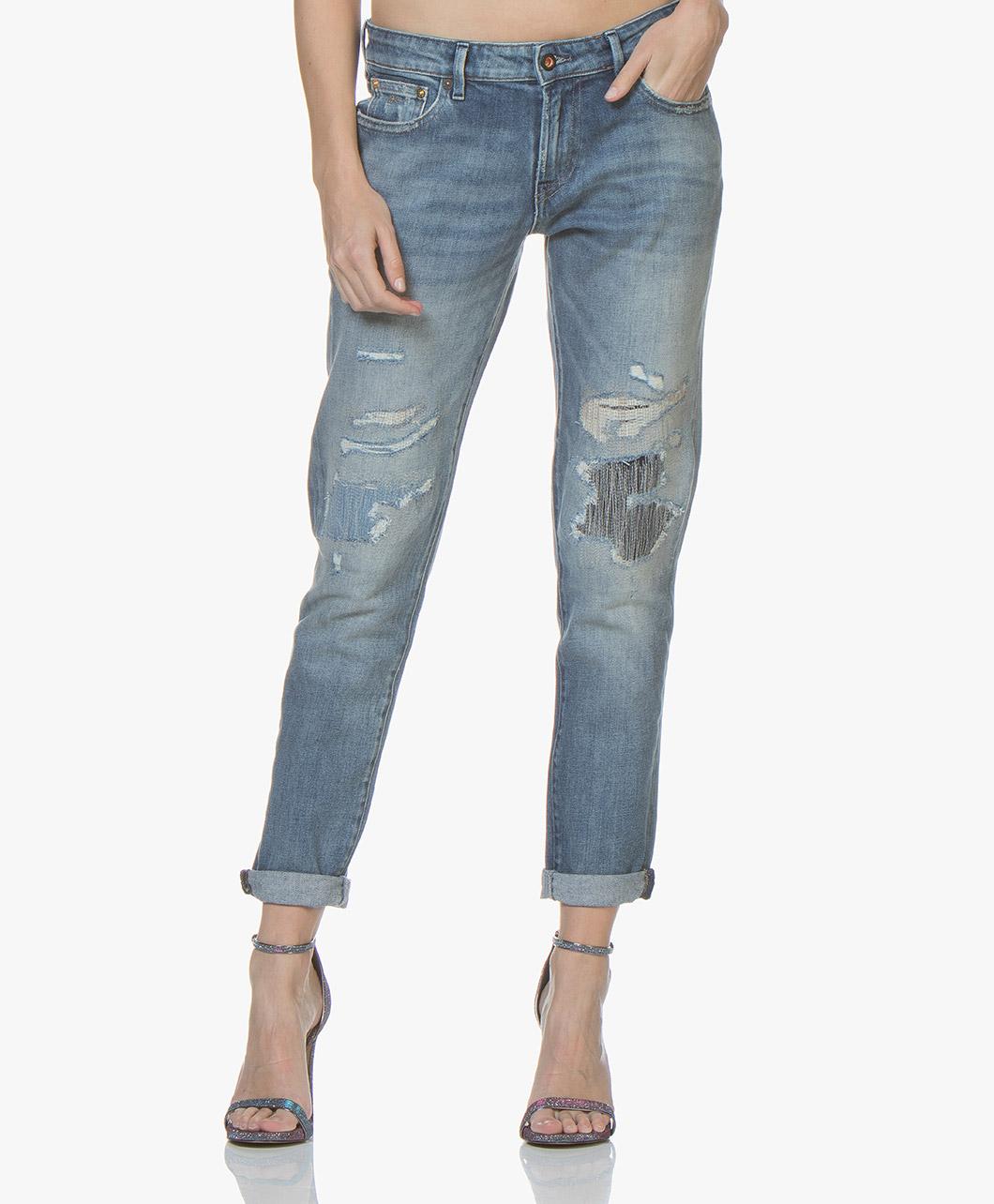 Afbeelding van Denham Jeans Medium Blauw Monroe Girlfriend Fit