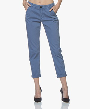 BOSS Sachini Stretch-Katoenen Chino - Bright Blue