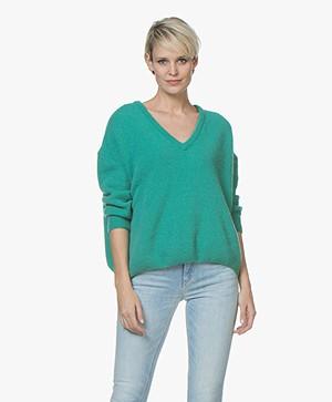 American Vintage Vikiville V-neck Sweater - Menthe A L'Eau