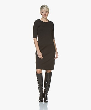 Filippa K Front Pocket Shift Jurk - Zwart