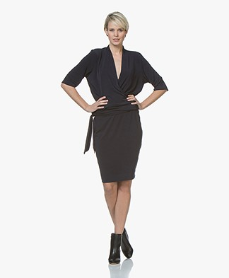 By Malene Birger Qizi Crepe Jersey Dress - Night Blue