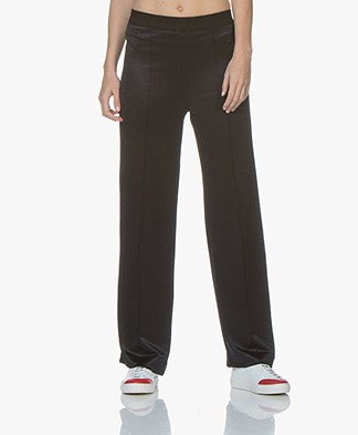 By Malene Birger Sillica Satin Crepe Jersey Pants - Night Blue