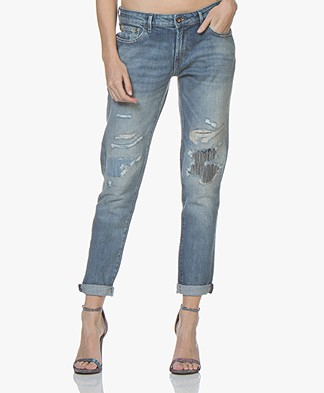 Denham Monroe Girlfriend Fit Jeans - Medium Blauw