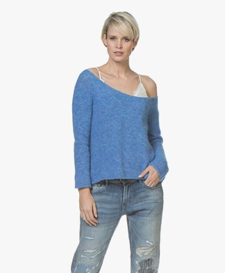 American Vintage Woxilen Oversized Sweater - Curacao Melange