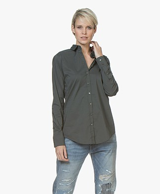 Closed Annie Cotton Stretch Blouse - Pine Tree