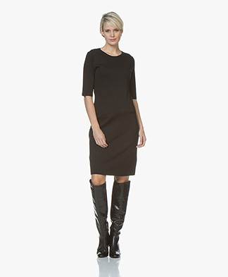 Filippa K Front Pocket Shift Dress - Black
