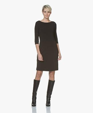 no man's land Crepe Jersey Dress - Black