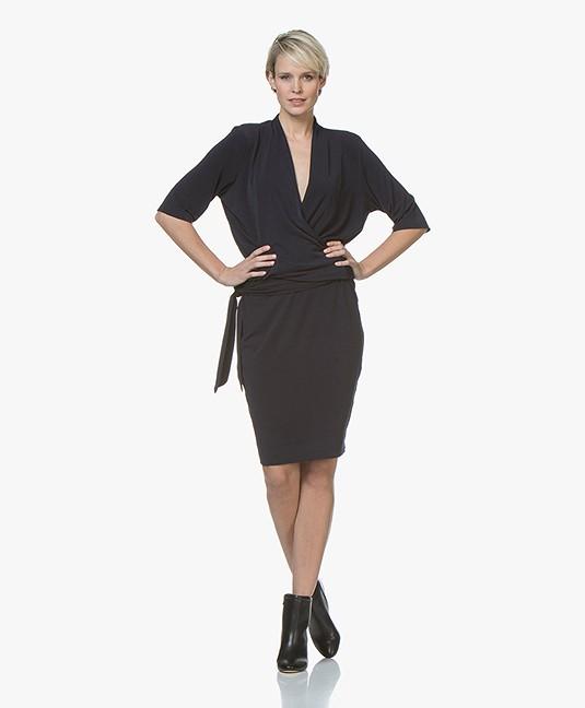 123355b47034 By Malene Birger Qizi Crepe Jersey Dress - Night Blue - q55597135 ...