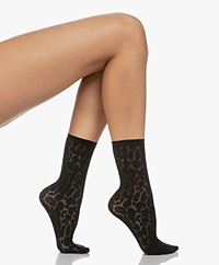 Wolford Leo Socks - Black
