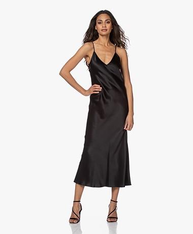 Joseph Clea Silk Satin Slip Dress - Black