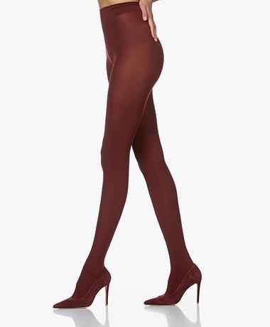 Wolford Velvet de Luxe 66 Panty - Cordovan