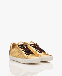 Zadig & Voltaire Gold Metallic Sneakers - Gold
