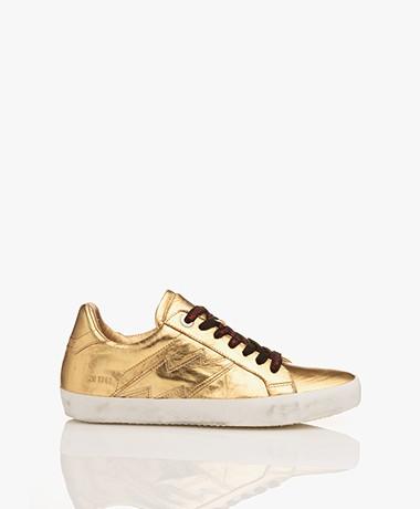 Zadig & Voltaire Gold Metallic Sneakers - Gold