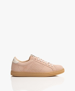 ba&sh Cost Suede Sneakers - Pink Blush
