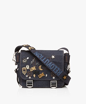 Zadig & Voltaire Readymade Denim Shoulder Bag - Blue