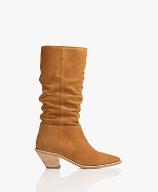 ba&sh Cowby Suede Boots - Camel