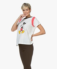 MKT Studio Tonic Mickey Mouse Print T-shirt - White
