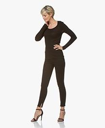 HUGO Gerna Skinny Jeans met Splitzoom - Zwart