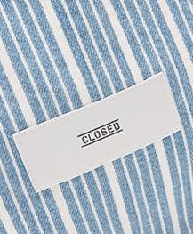 Closed Gestreepte Denim Shopper - Lichtblauw/Wit