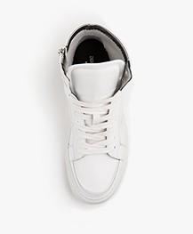 Zadig & Voltaire High Flash Leren Sneakers - Wit