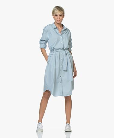 BOSS Catnyna Poplin Shirt Dress - Light Blue