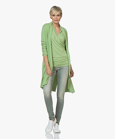 LaSalle Long Open Cardigan from Soy Beans - Green