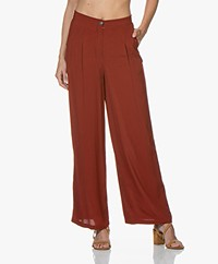 Marie Sixtine Leo High-rise Pants - Rusty