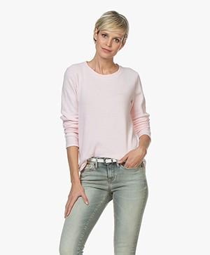 Denham Icicle Sweater in Cotton Fleece - Hushed Violet