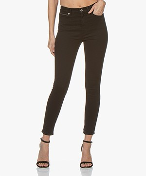 HUGO Gerna Skinny Jeans with Split Hem - Black