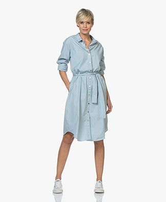 BOSS Catnyna Poplin Shirt Dress - Light Blue