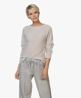 no man's land Mohair and Alpaca Sweater - Soft Linen