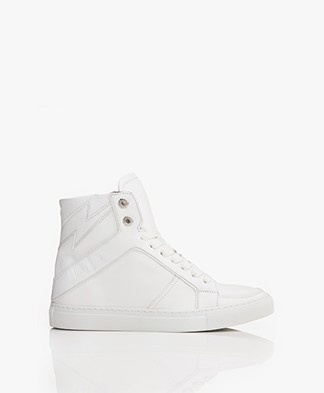 Zadig & Voltaire High Flash Leren Sneakers - Wit