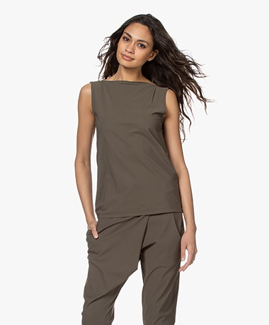 Woman By Earn Dewi Tech Jersey Boothals Top - Army