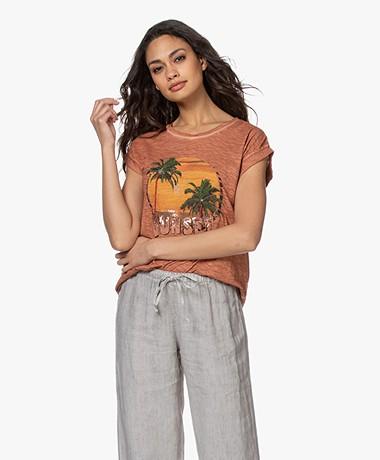 MKT Studio Taset Print T-shirt - Rust
