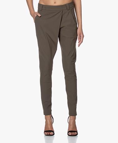 Woman By Earn Earn Tapered Tech Jersey Pants - Army