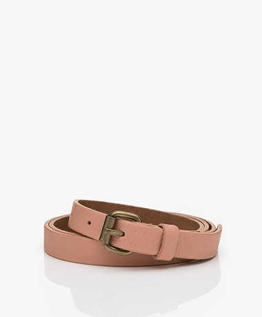 by-bar Julie Rosa Leather Belt - Nude