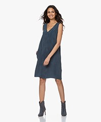 Drykorn Lania Sleeveless Cupro Dress - Blue