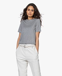 By Malene Birger Amatta Lyocell T-shirt - Medium Grey Melange
