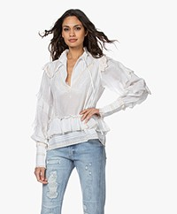Zadig & Voltaire Trinity Cotton Blend Ruffle Blouse - Sushi